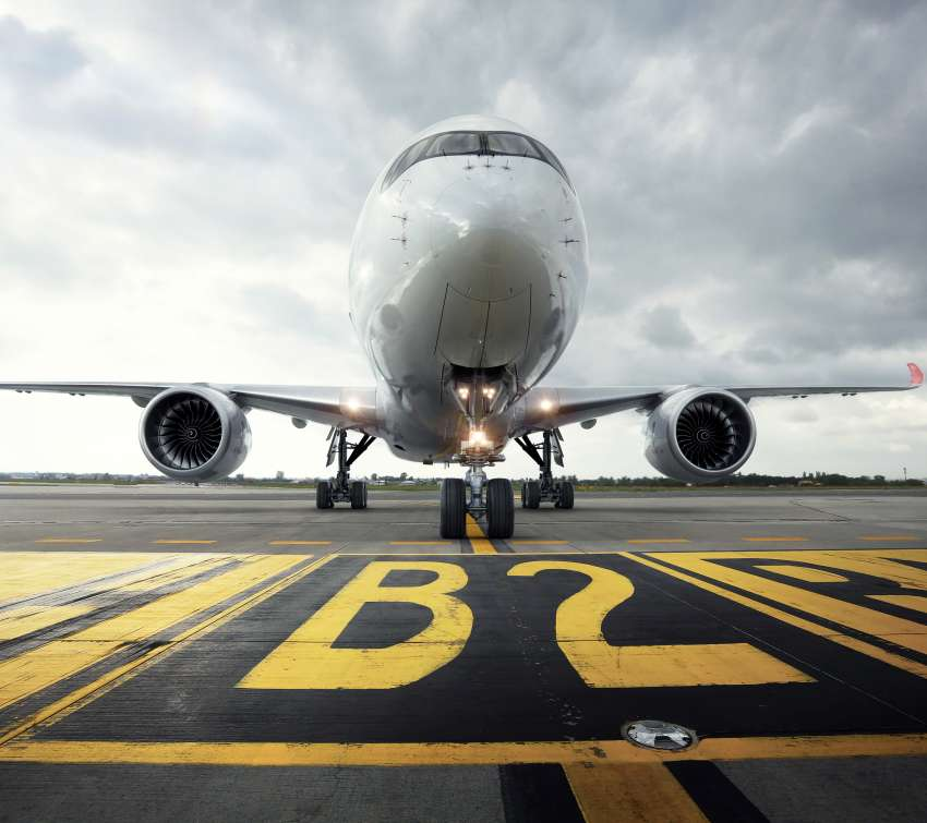 Airbus A350-900 Mobiele Horizontaal achtergrond