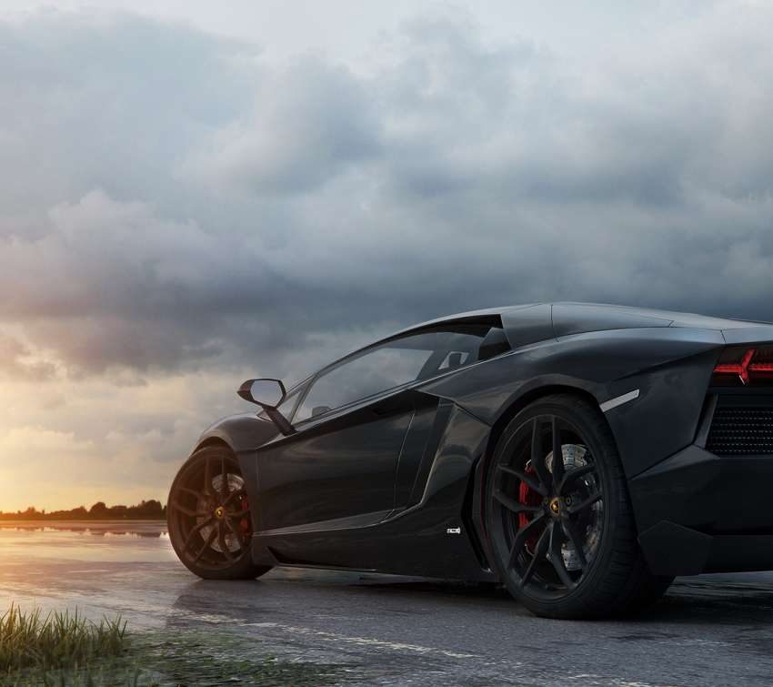 The Black Aventador achtergrond