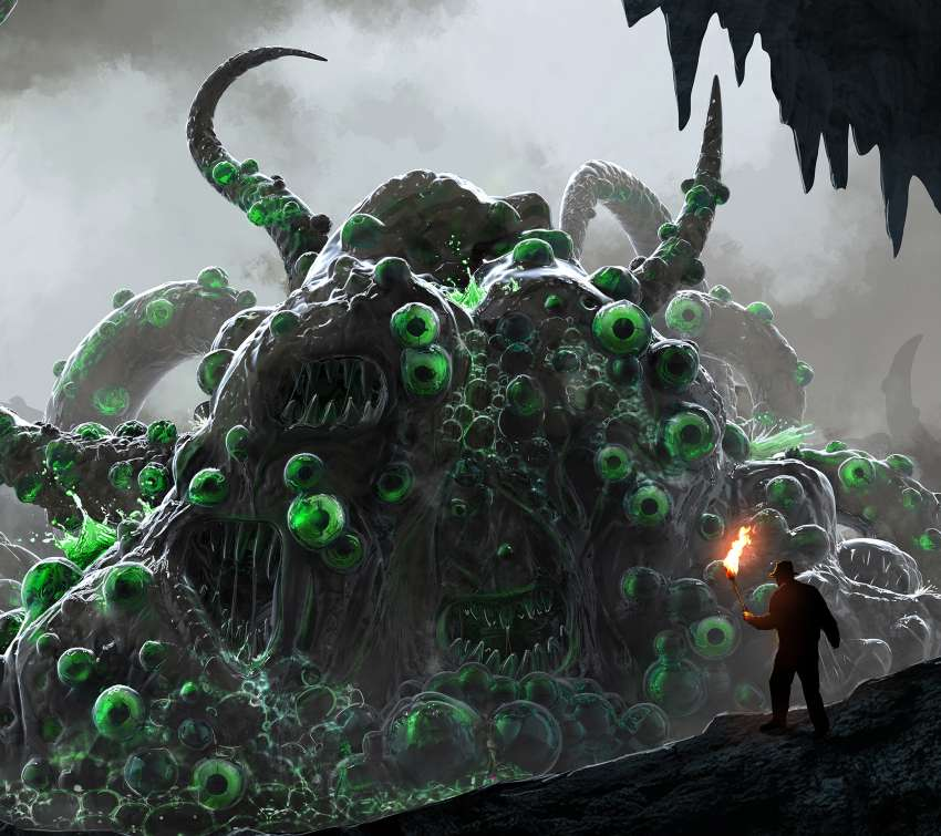 Lovecraft's Shoggoth Mobiele Horizontaal achtergrond