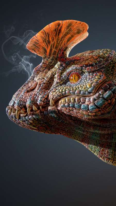 Dragon Bust Redesign 02 Mobiele Verticaal achtergrond