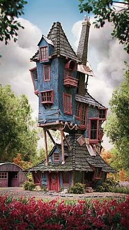 Harry Potter - The Burrow, Weasley's family home Mobiele Verticaal achtergrond