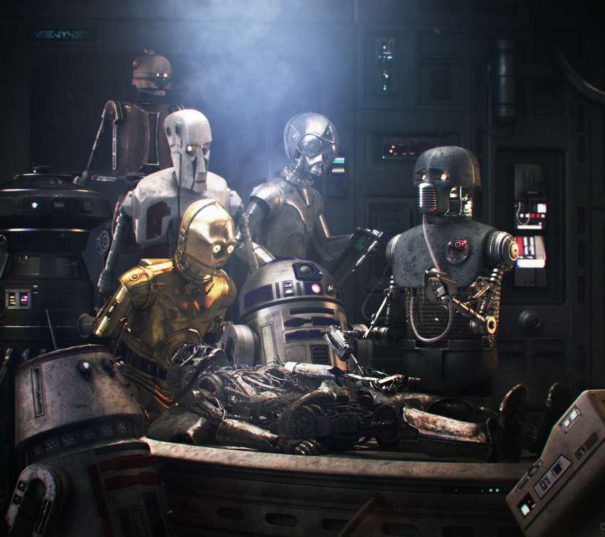 Star Wars meets Rembrandt Mobiele Horizontaal achtergrond