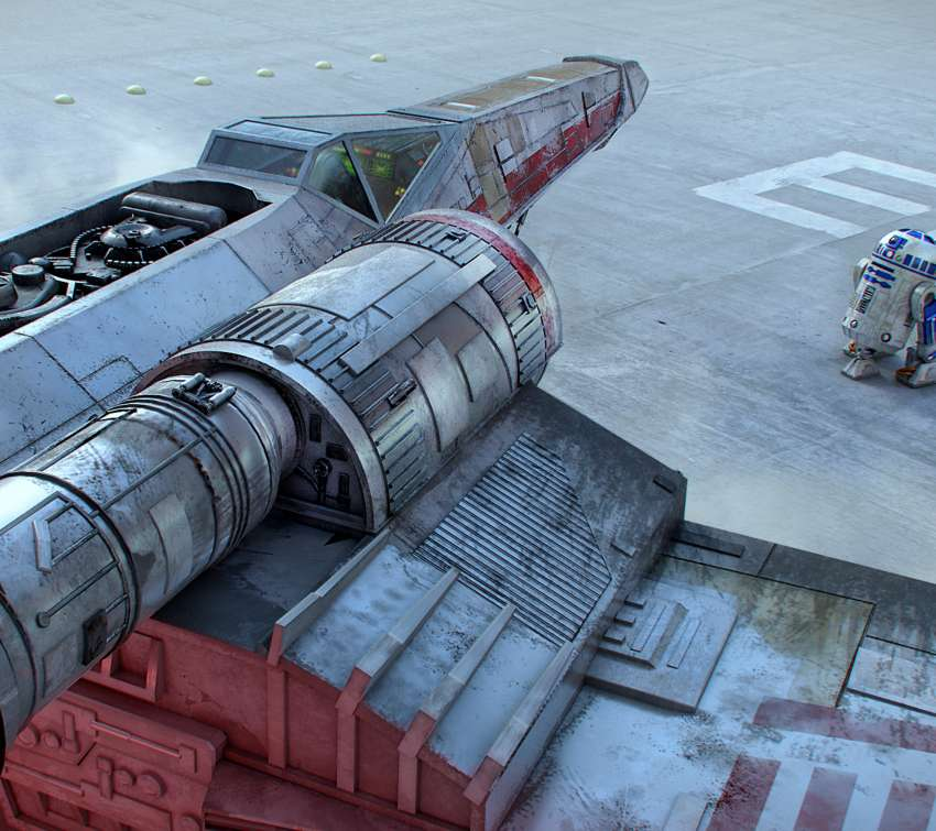 Yavin's Base (X-Wing) Mobiele Horizontaal achtergrond