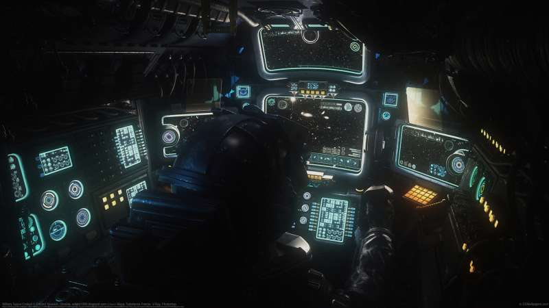 Military Space Cockpit achtergrond