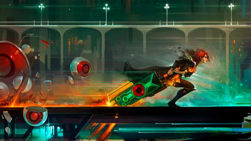Red Run - Transistor fan art achtergrond