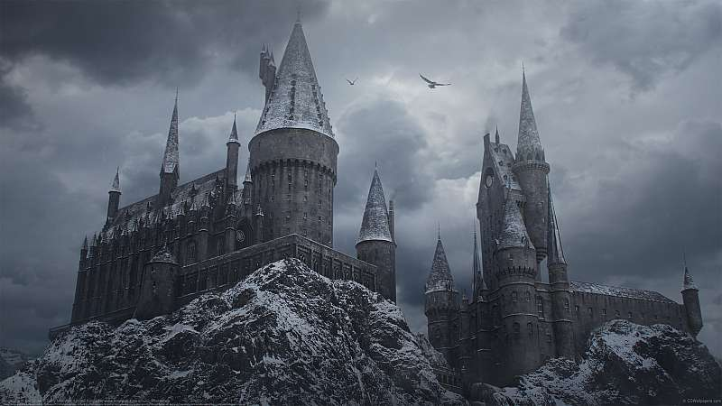 Hogwarts in the Snow achtergrond